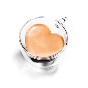 Tasse transparente double parois avec cœur à l'intérieur mug
