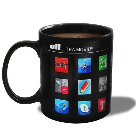 Tasse thermique applications Smartphone mug thermo-réactifs iphone