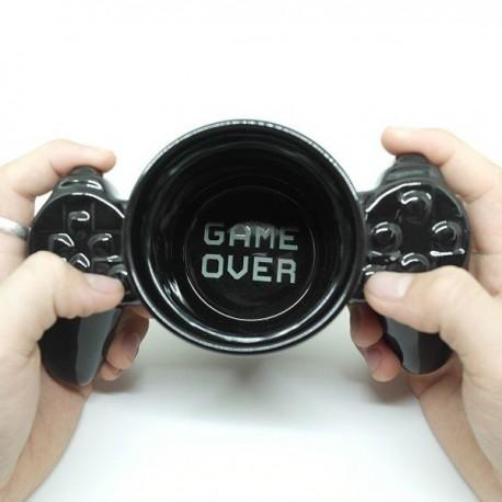 Tasse manette de jeux vidéo en céramique noir Mug