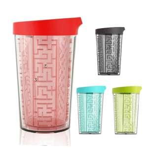 Mug avec jeu de labyrinthe tasse avec 4 labyrinthes et un couvercle