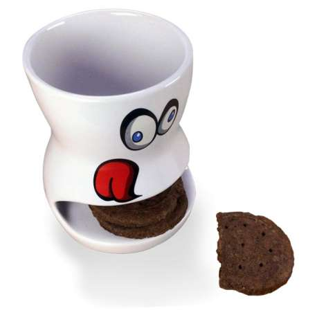 Tasse à compartiment range-biscuits mug en forme de bouche