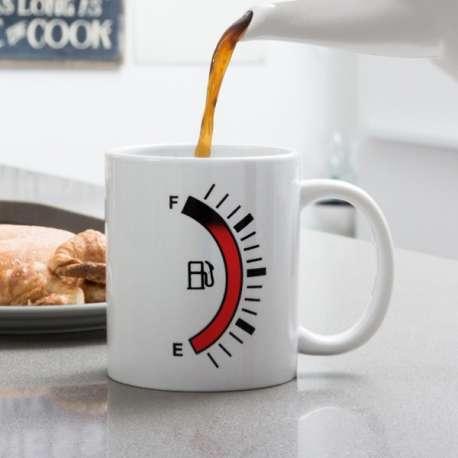 Tasse thermique jauge carburant mug thermo-réactifs