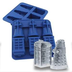 Bac à glaçons Tardis et Dalek Dr Who moule à chocolat