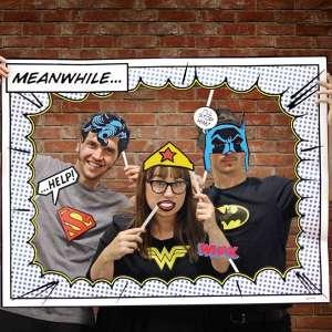 Accessoires photobooth déguisements de super héros pour photos
