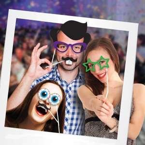Accessoires photobooth funs pour photo, mariage anniversaire