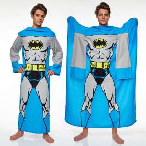 Couverture polaire Batman à manche plaide