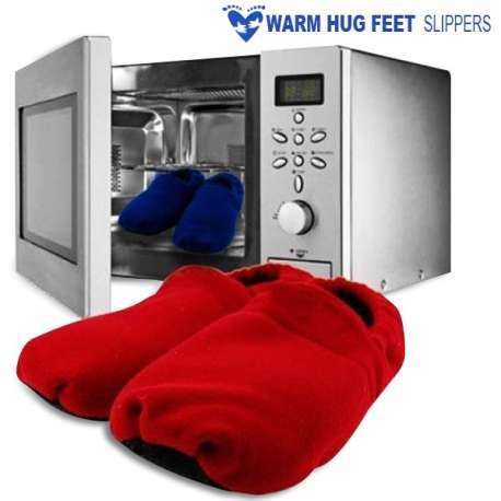 Chaussons chauffants à passer au micro-ondes