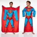 Couverture polaire Superman à manches longues plaide
