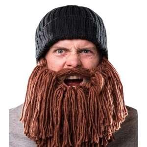 Bonnet avec longue barbe rousse