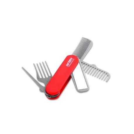 Couteau suisse de beauté avec peignes et miroir