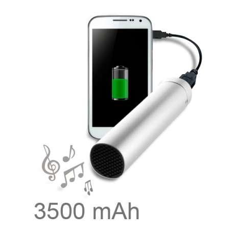 Chargeur de batterie smartphone micro USB avec haut-parleur jack