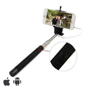 Perche pour selfie avec câble caméra et smartphone
