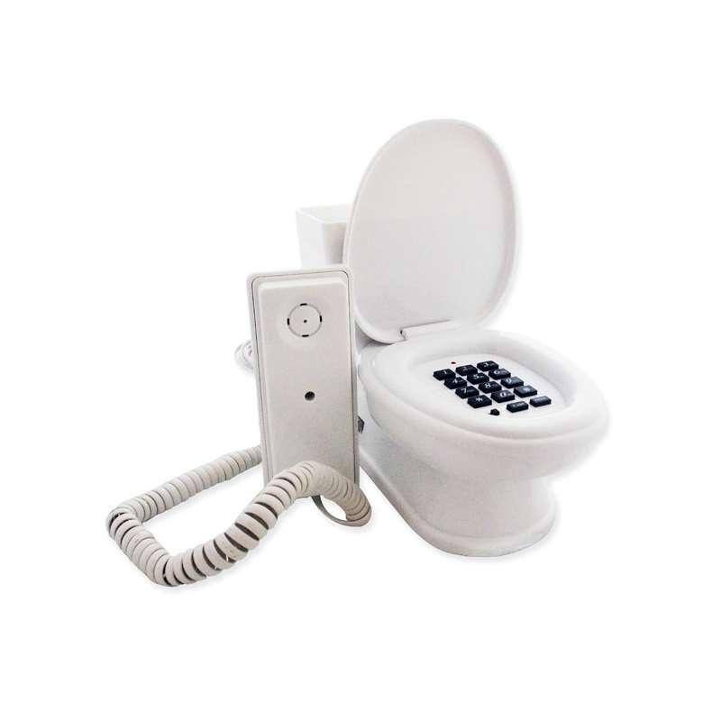 t l phone filaire fixe wc toilettes d lirant totalcadeau. Black Bedroom Furniture Sets. Home Design Ideas