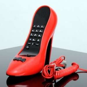 Téléphone de bureau en forme de talon aiguille chaussure