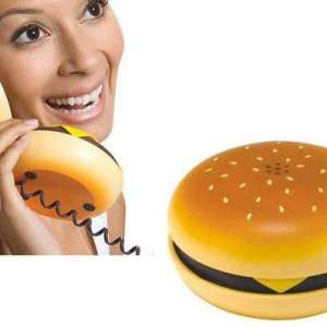 Téléphone filaire fixe délirant hamburger burger