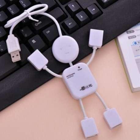 Hub 4 ports USB en forme bonhomme