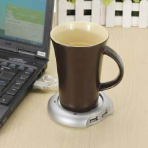 Chauffe-tasse USB et hub multiplicateur 4 ports