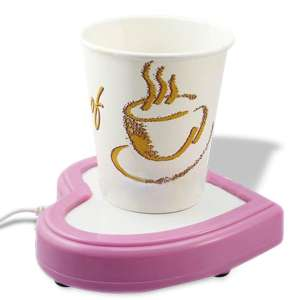 Chauffe-tasse coeur à USB pour mug et tasse