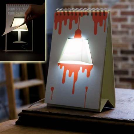 Lampe USB bloc-notes à dessiner customisable