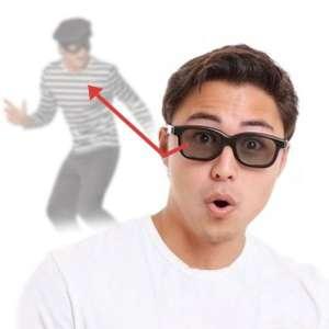 Lunettes à rétroviseurs lunettes espion à miroir intégré