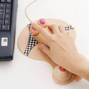 Souris informatique femme sexy USB seins