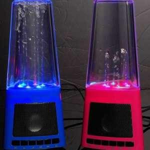 Haut parleur à LED et fontaine eau enceinte