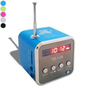 Mini enceinte cube mp3/radio haut-parleur avec écran LCD