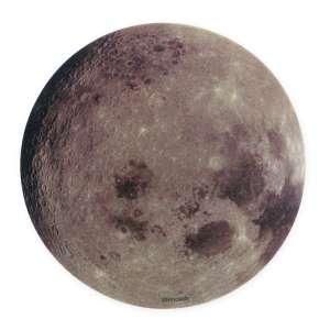 Tapis de souris informatique lune complète