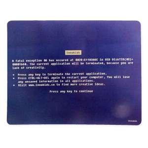 Tapis informatique écran bleu erreur fatale