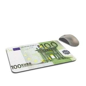 Billet de 100 euros en guise de tapis de souris