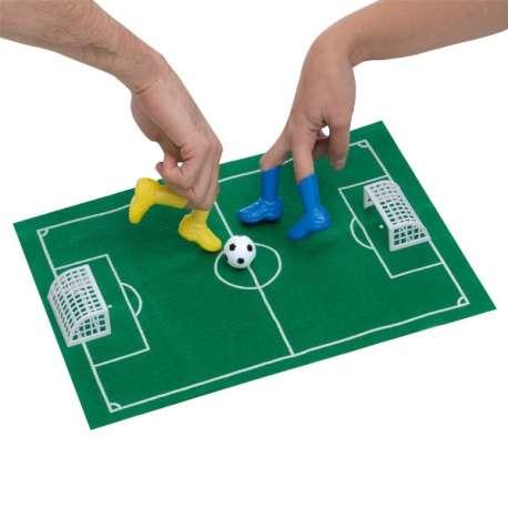 Kit de jeu de foot pour doigts 1 tapis, 4 bottes, 1 balle, 2 cages