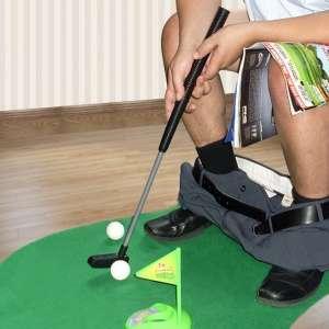 Jeu de golf pour toilettes WC