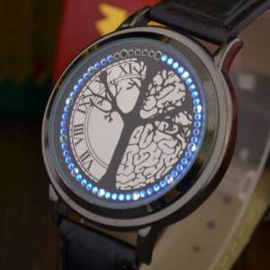 Montre led tactile touch futuriste à sensitive arbre