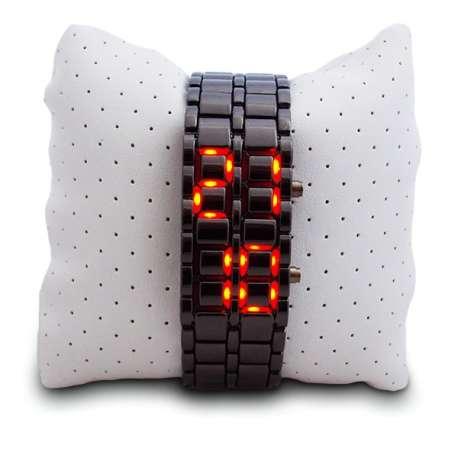 Montre bracelet en métal à LED digital