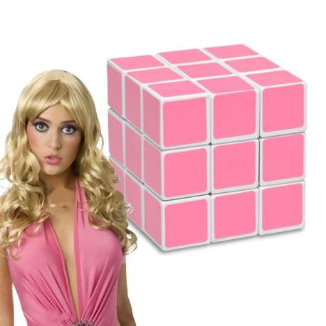 Cube magique rose pour blondes magic Casse-tête