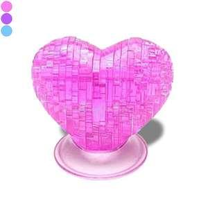 Puzzle effet crystal cœur 3D