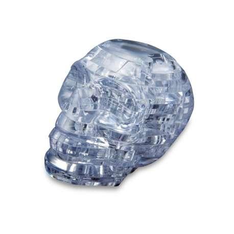 Puzzle 3D forme tête de mort translucide