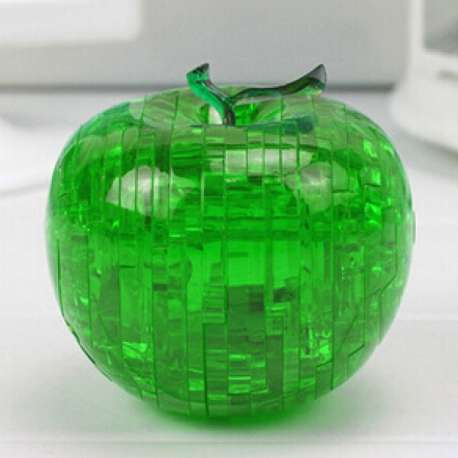 Puzzle 3D effet crystal en forme de pomme