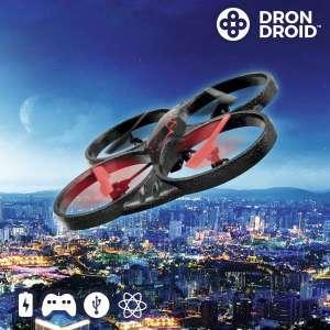 Drone télécommandé avec 4 hélices de rechange