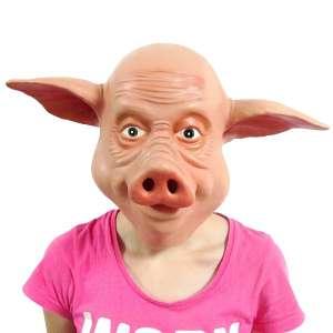 Masque de cochon en latex déguisement