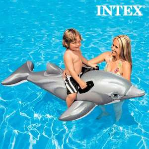Bouée gonflable en forme de dauphin piscine mer
