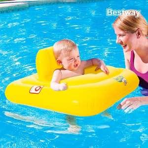 Bouée fauteuil siège gonflable pour bébés piscine mer enfant carré