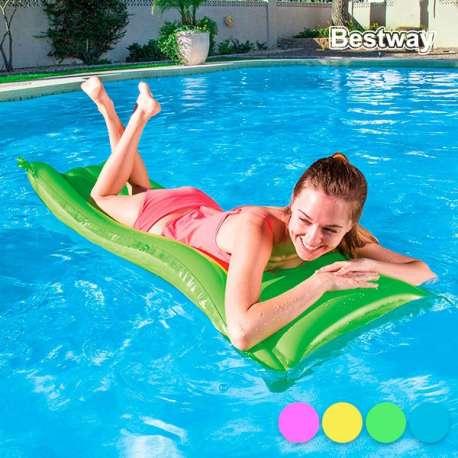 Matelas bouée gonflable colorée piscine mer