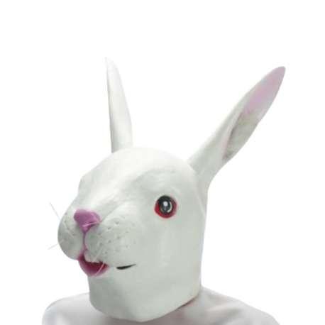 Masque de lapin déguisement latex