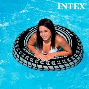 Pneu Intex Gonflable Bouée ronde pour piscine et mer