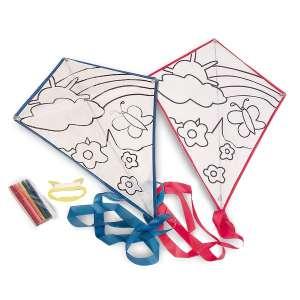 Cerf-volant à colorier