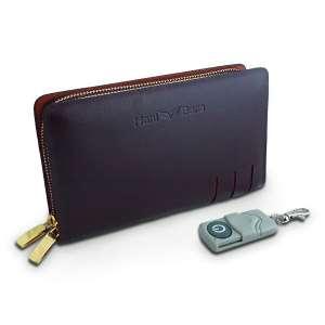 Portefeuille caméra espion HD en simili cuir télécommandé
