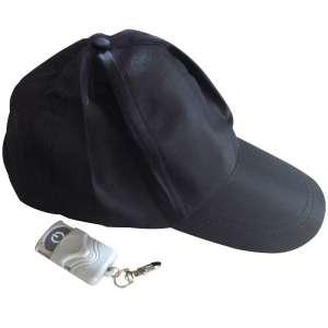 Casquette camera espion noire espionne 4Go télécommandé