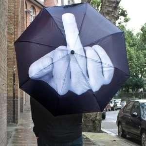 Parapluie FUCK doigt d'honneur