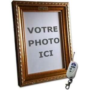 Cadre photo élégant camera espion espionnage